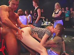 About 100 amateur chicks at an amateur girls-only stripper party get drunk and naked and go crazy for stripper cock. voyeur video #2