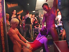 Amateur girls go wild at real Prague stripper club and let themselves get fucked and suck cock in front of the cameras at CFNM party voyeur video #2