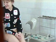 Spy camera filming scrupulous gynecological exam voyeur video #2