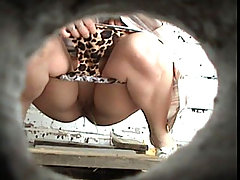 Unsuspecting lasses pee in front of a spy camera voyeur video #1