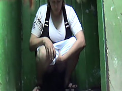 Awesome voyeur footage from shabby outdoor toilets voyeur video #3