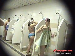 Very beautiful and all sex appeal women wash bodies voyeur video #2
