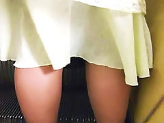 Hugest collection of the sexiest upskirts occasionally taken on the streets voyeur video #3