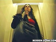 Do you examine lavatory pan before you use it? No? You'd better do it, since there are artful guys, who hide their spy cameras in it voyeur video #1